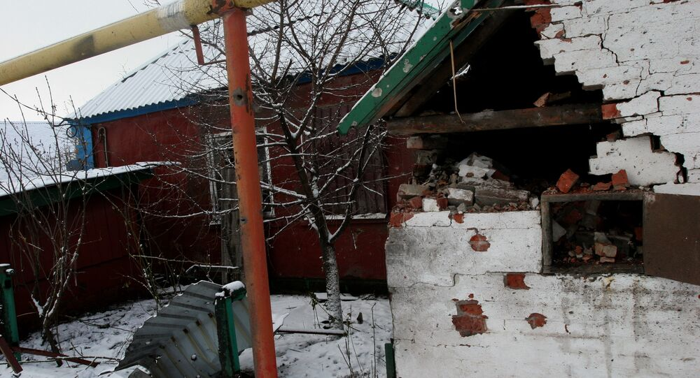 Aftermath of Donetsk shelling by Ukrainian army