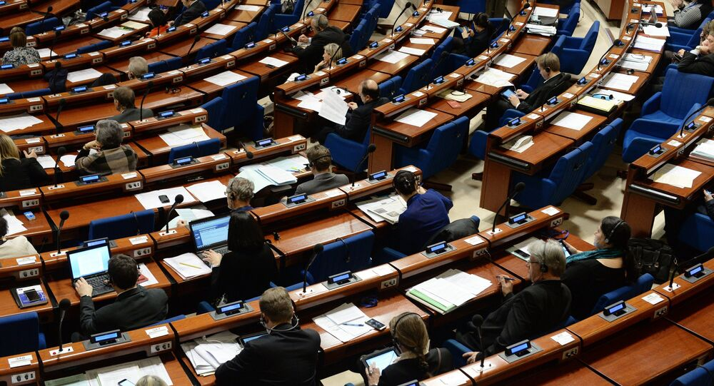 Plenary meeting of the Council of Europe's Parliamentary Assembly