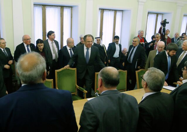 Russian FM Lavrov and Syrian opposition