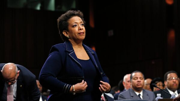 oretta Lynch takes her seat to testify before a Senate Judiciary Committee confirmation hearing on her nomination to become U.S. attorney general on Capitol Hill in Washington January 28, 2015. - Sputnik International