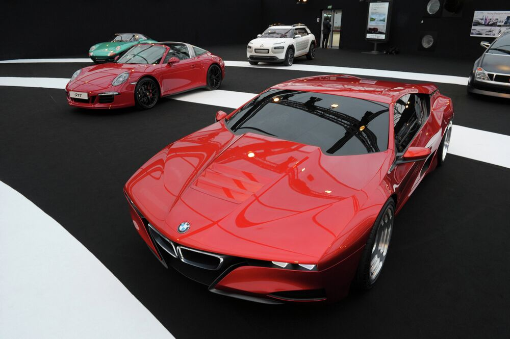 The M1 Hommage by German car manufacturer BMW is presented during the Concept Cars and Automobile Design exhibition in Paris