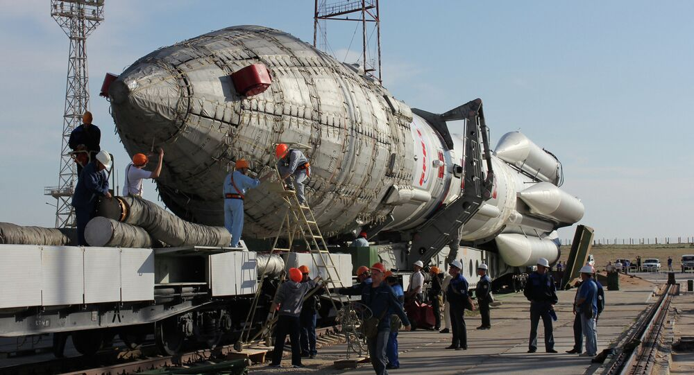 A Proton-M carrier rocket and a British telecommunications satellite, Inmarsat 5F-2, have been delivered to the Baikonur cosmodrome