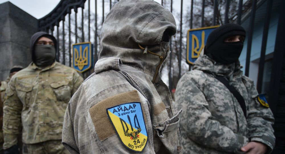 Security officials from the self-proclaimed Lugansk People's Republic have reported the capture of a group of Aidar Battalion fighters suspected of planning terror attacks in the region, Lugansk Inform Tsentr reports.