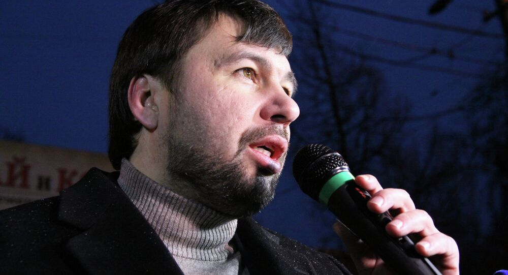 Denis Pushilin, vice speaker of the parliament of the Donetsk People's Republic