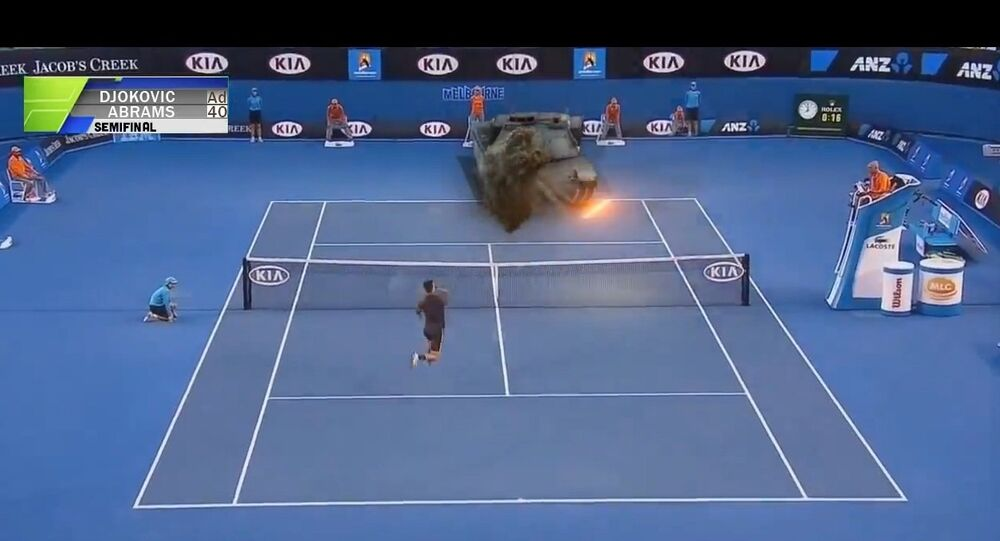 Tennis match with М1 Abrams.