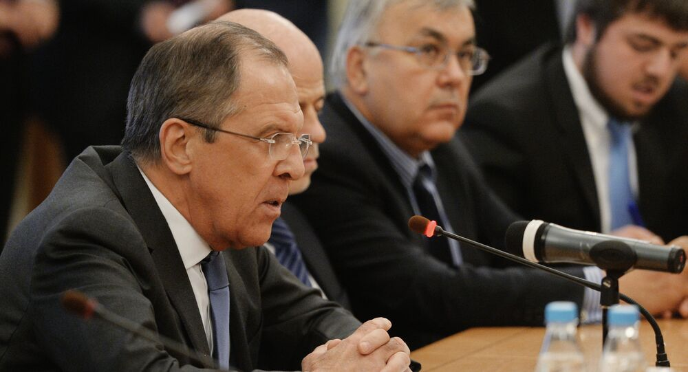 Russian Foreign Minister Sergey Lavrov meets with Syrian opposition and government