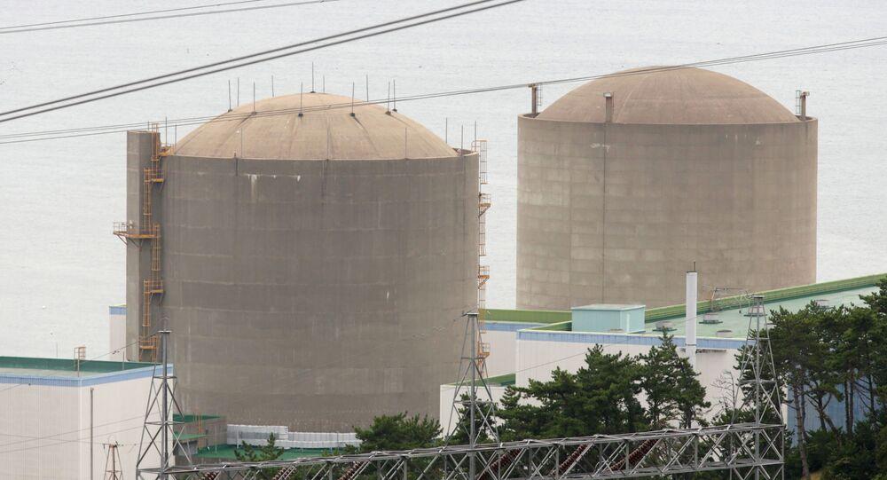 The Kori No. 1 reactor (R) and No. 2 reactor of state-run utility Korea Electric Power Corp (KEPCO)