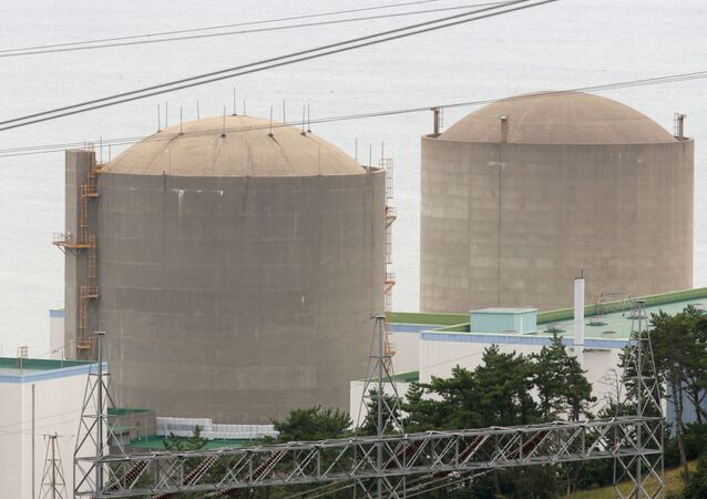 The Kori No. 1 reactor (R) and No. 2 reactor of state-run utility Korea Electric Power Corp (KEPCO)