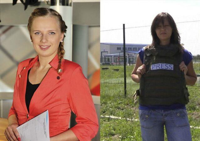 Life News journalists Elizaveta Khramtsova (Photo from vk.com/hramtsova_liza) and Natalia Kalysheva (Photo from Facebook page)