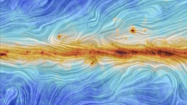 The image portrays the interaction between interstellar dust in the Milky Way and the structure of our Galaxy's magnetic field - Sputnik International