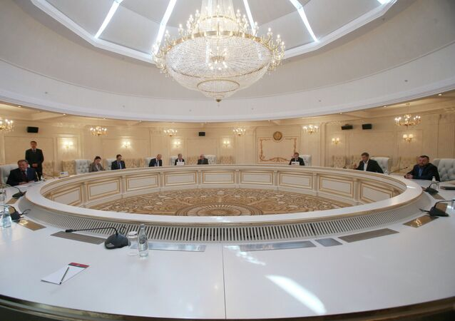 A meeting of the Contact Group on Ukrainian reconciliation in Minsk, Belarus.