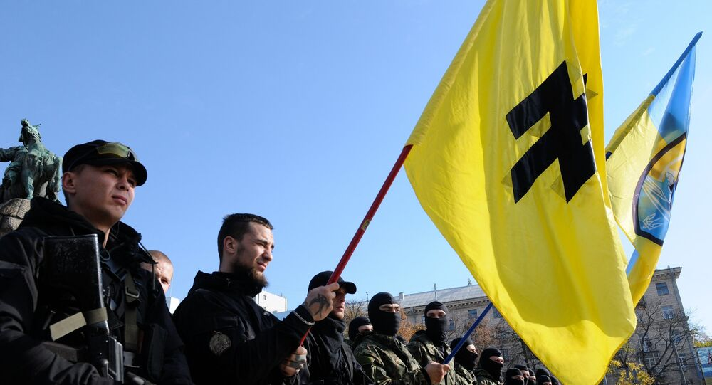 Students of the Azov battalion are dispatched to the conflict zone in southeastern Ukraine