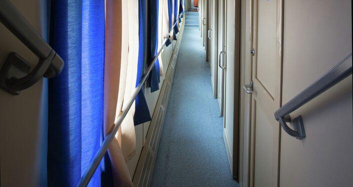Interior of Tver Carriage Works' new bilevel design.