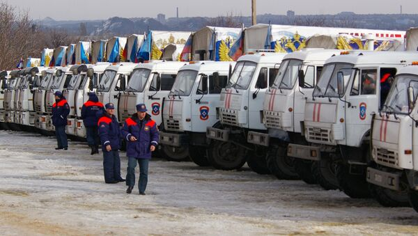 12th humanitarian convoy arrives in Donbas - Sputnik International