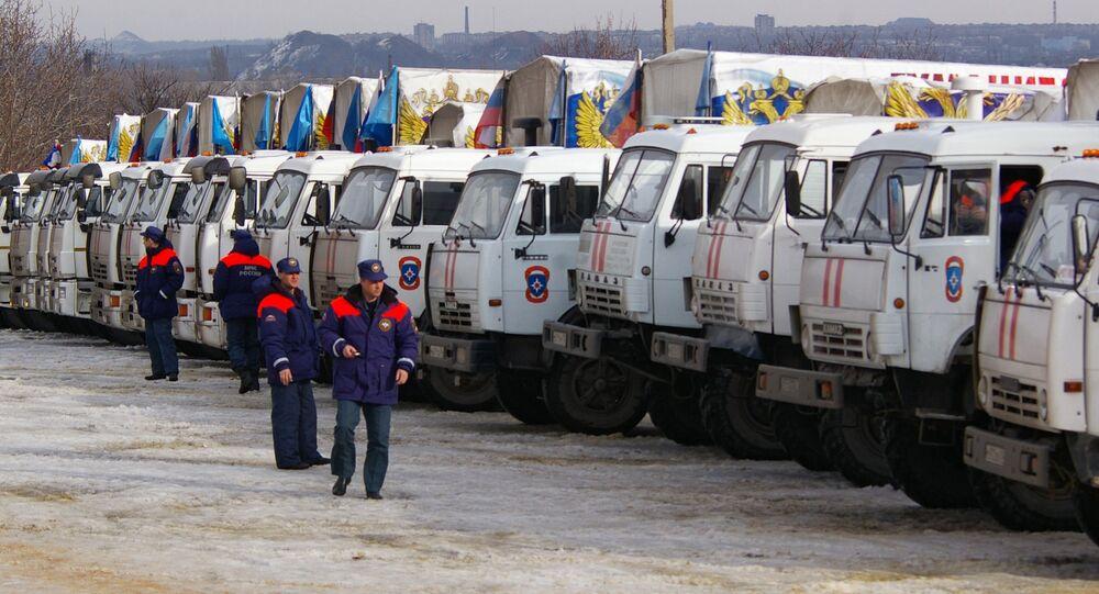 12th humanitarian convoy arrives in Donbas