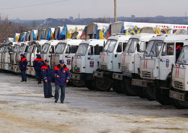 12th humanitarian convoy arrives in Donbas