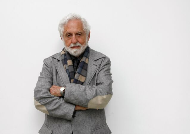 Carl Djerassi poses for a portrait at Jacobs University in Bremen, Germany