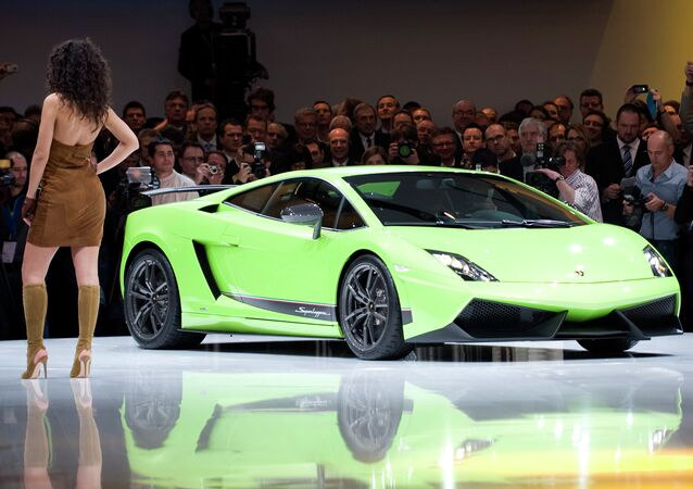 Lamborghini shows the new Gallardo model at the Volkswagen Group event in Geneva