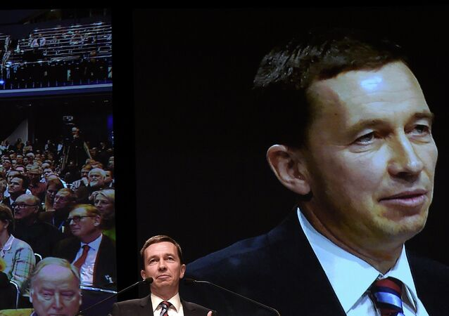 Bernd Lucke, chairman of the Alternative for Germany (AfD) party during the party congress in Bremen over the weekend.