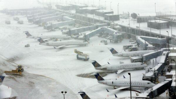 Snow blankets O'Hare International Airport, Sunday, Feb. 1, 2015, in Chicago - Sputnik International