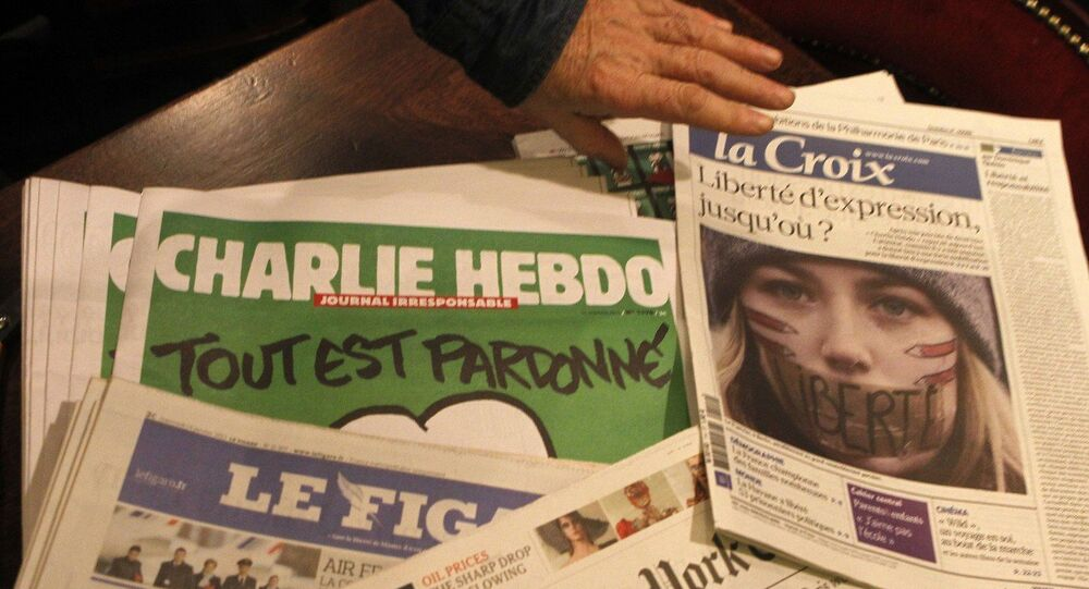 The Charlie Hebdo French satirical magazine is taking a break