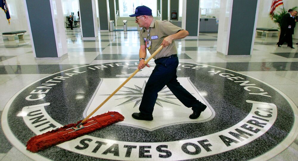 The lobby of the CIA Headquarters building in McLean, Virginia.