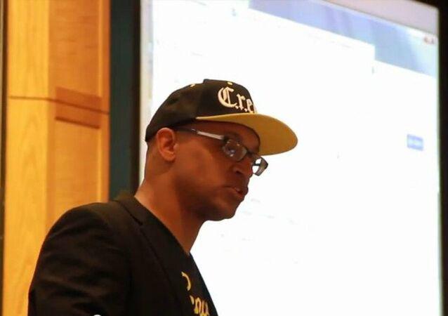 Founder of the Hip-Hop Chess Federation [HHCF], Adisa Banjoko
