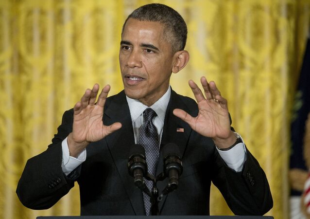 President Barack Obama gestures as he speaks in the East Room of the White House in Washington, Friday, Jan. 30, 2015