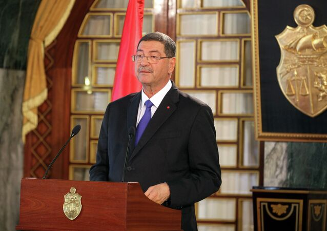 Tunisia's Prime Minister-designate Habib Essid speaks during a news conference in Tunis, February 2, 2015