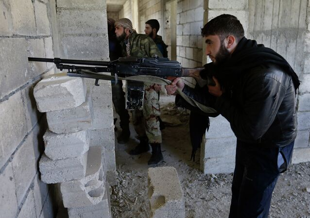 Syrian rebels battled government troops near a landmark 12th century mosque in the northern city of Aleppo.