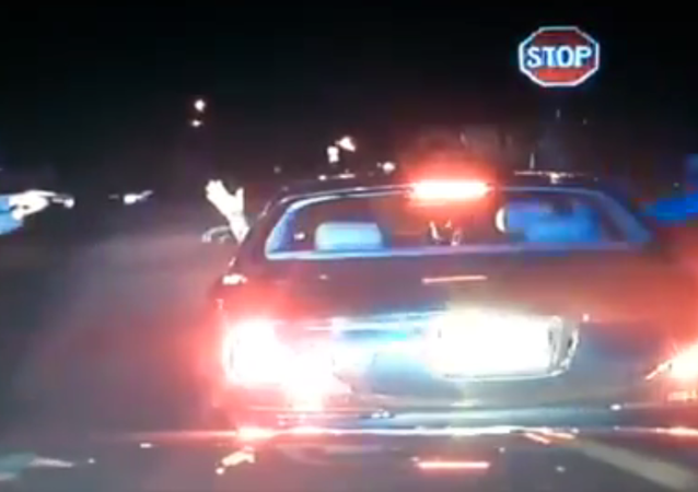 Two police officers shot dead an unarmed passenger during a traffic stop in New Jersey on Dec. 30, 2014.