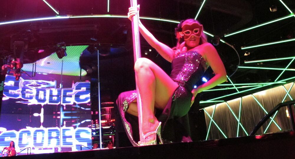 Professional Dancer at Strip Club