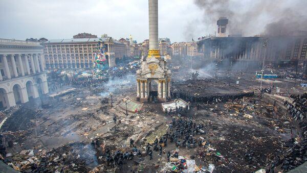 Maidan square in Kiev, Ukraine, Feb 19, 2014 - Sputnik International