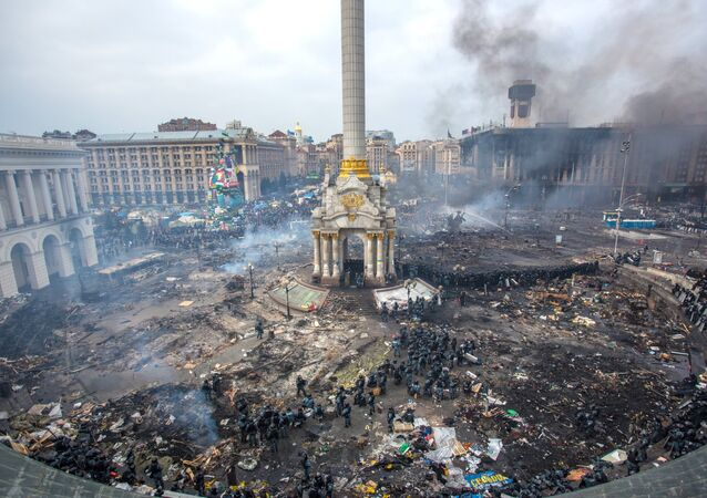 Maidan square in Kiev, Ukraine, February 19, 2014
