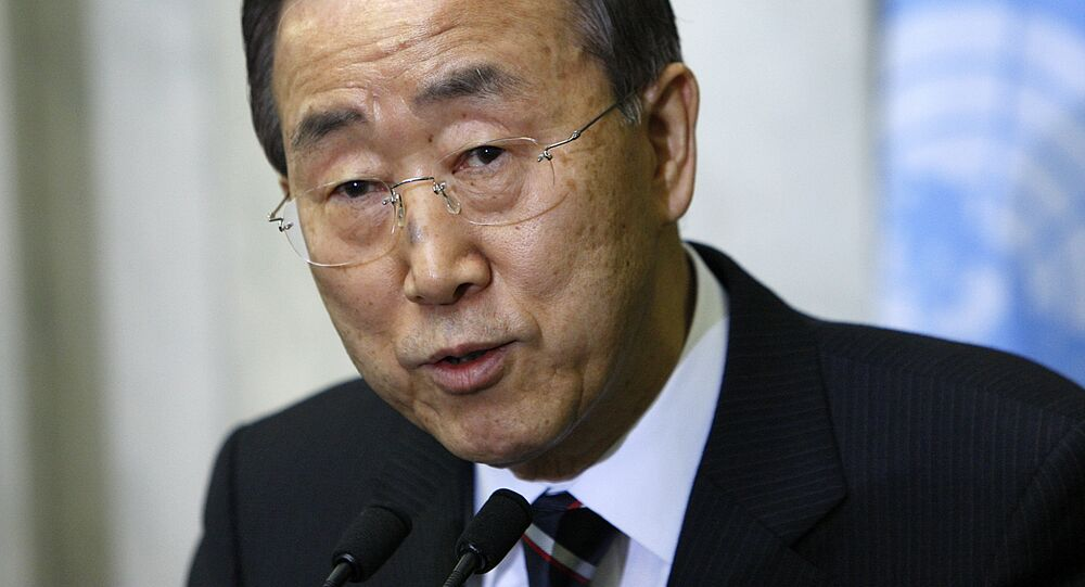 UN Secretary-General Ban Ki-moon expressed his support on Monday to the intra-Syria consultation