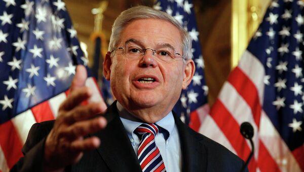 U.S. Sen. Robert Menendez (D-NJ) speaks about immigration reform at a news conference on Capitol Hill in Washington December 10, 2014 - Sputnik International