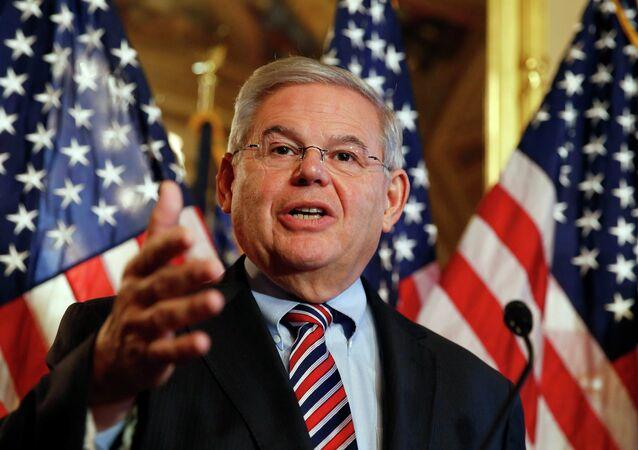 U.S. Sen. Robert Menendez (D-NJ) speaks about immigration reform at a news conference on Capitol Hill in Washington December 10, 2014