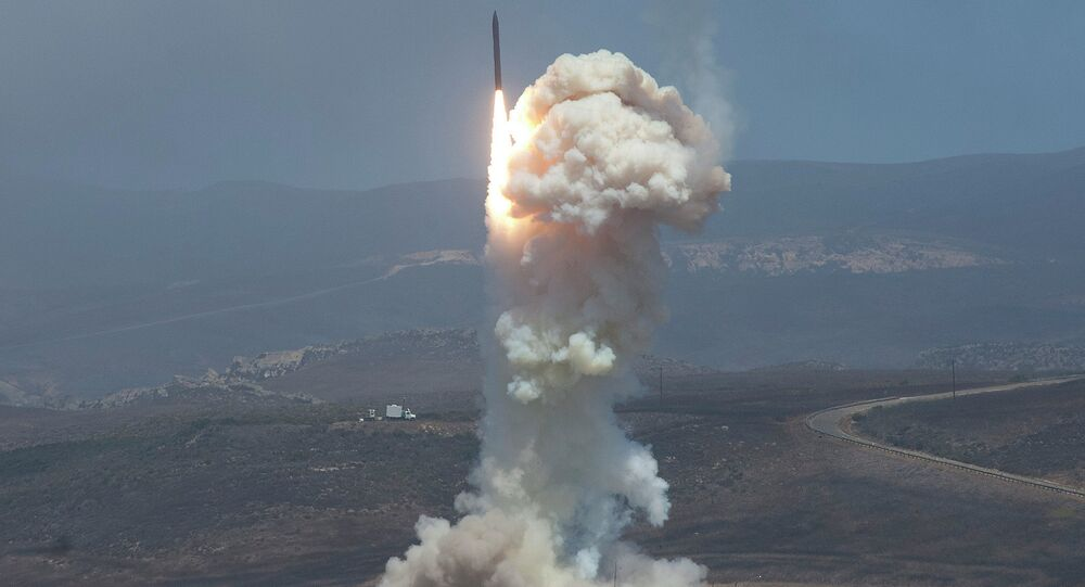The Missile Defense Agency's test of the Ground-based Midcourse Defense (GMD). The Ground-Based Interceptor launches from Vandenberg Air Force Base, Calif. on June 22, 2014.