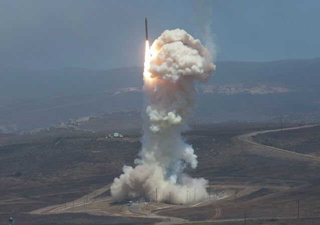 The Missile Defense Agency's test of its Ground-based Midcourse Defense (GMD) system. The Ground-Based Interceptor launched from Vandenberg Air Force Base, in California on 22 June 2014.