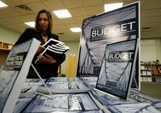 Copies of President Barack Obama's proposed 2016 budget are displayed for sale at the Government Printing Office in Washington February 2, 2015