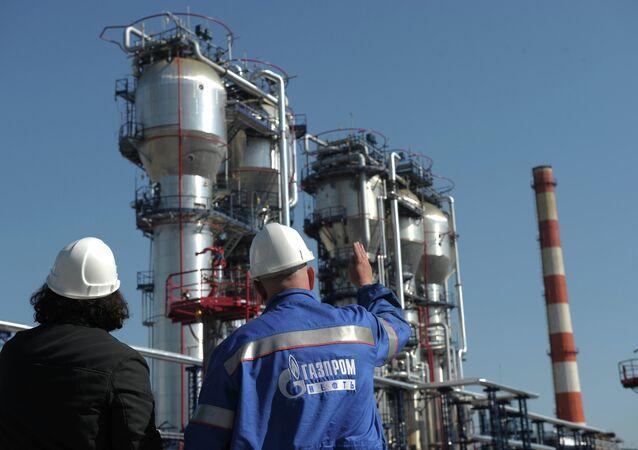 Moscow Gazprom Oil refinery facility
