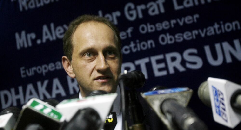 Alexander Graf Lambsdorff, the chief observer of the European Union Election