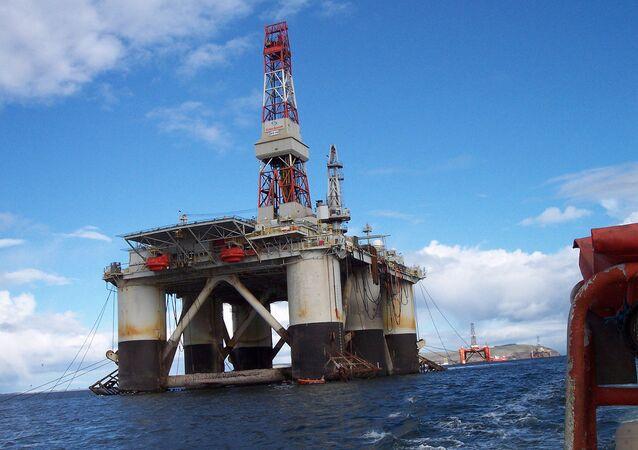 Offshore oil rig, North Sea