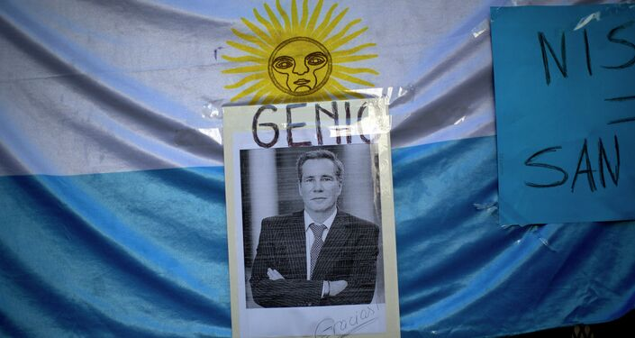 Photo of Slain Argentine Prosecutor With the Spanish Word for Genius