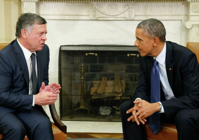 U.S. President Barack Obama meets with Jordan's King Abdullah at the White House in Washington February 3, 2015