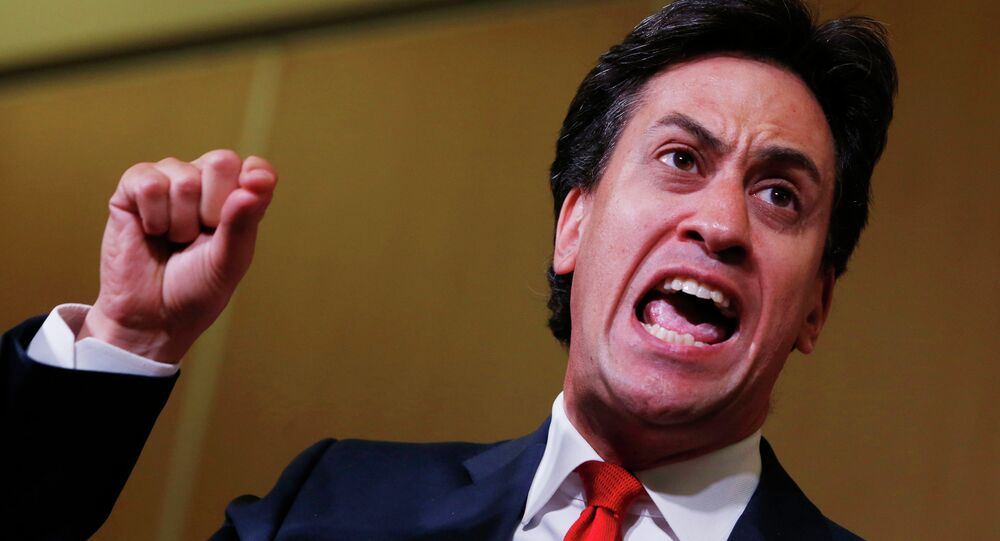 Labour Party leader, Ed Miliband, campaigns in the Scottish independence referendum in 2014