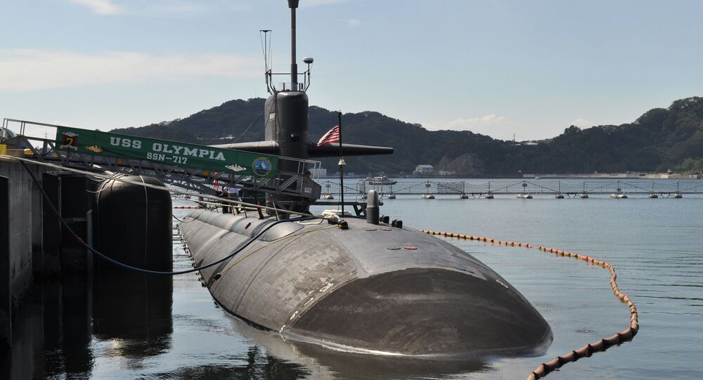The Los Angeles-class fast attack submarine USS Olympia (SSN 717)