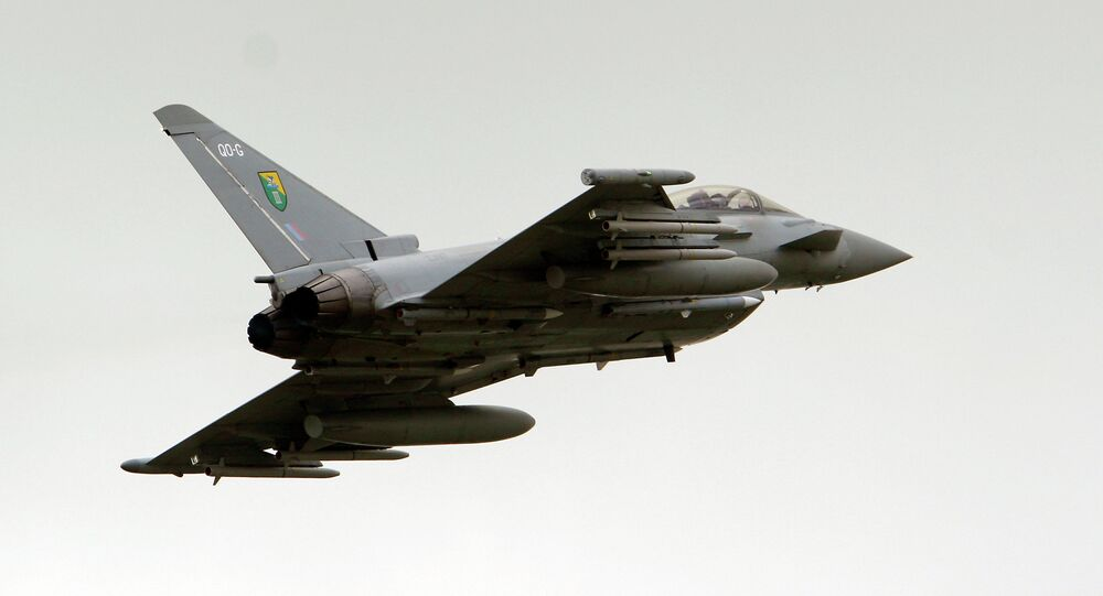 British Royal Air Force (RAF) Typhoon jet fighter