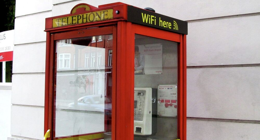 Wi-Fi in a telephone booth