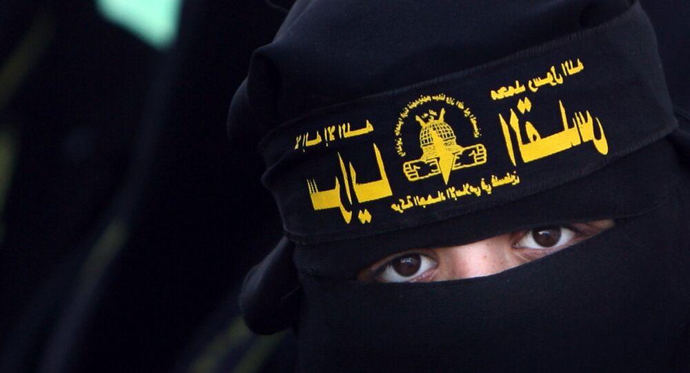 Female supporters of Islamic jihad